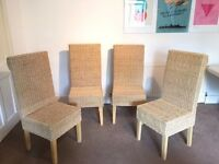 Rope Weave Dining Chairs (set of 4) £60 ONO