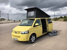 2010 10 VW VOLKSWAGEN TRANSPORTER 2.0 TDI LWB 102 T5 4 BERTH CAMPERVAN IN YELLOW