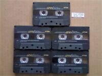 JL £18.49 & FREE P&P 5x GUARANTEED TDK AR 90 PREMIUM CASSETTE TAPES 1990-1991 W/ CARDS CASES LABELS