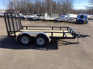 "NEW 2017 PJ 77"" x 12' READY-RAIL LANDSCAPE TRAILER"