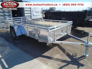 ****SPECIAL**** ALUMINUM 5X12' UTILITY TRAILER W/TOP RAIL