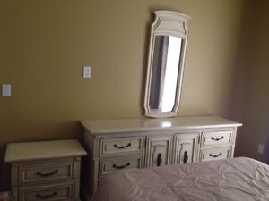 Dresser,night table and mirror