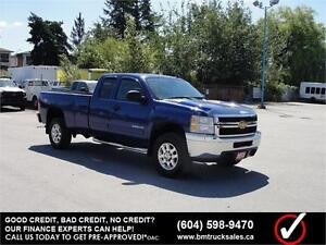 2013 CHEVROLET SILVERADO 2500HD LT EXT CAB LONG BOX 4X4 LEATHER