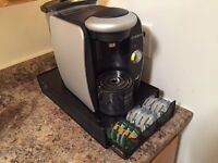 Tassimo Coffee Maker $30 w/ cup storage
