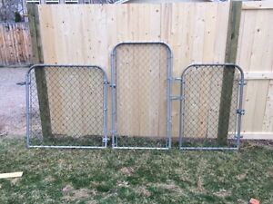 4 Various Size Chain Link Gates