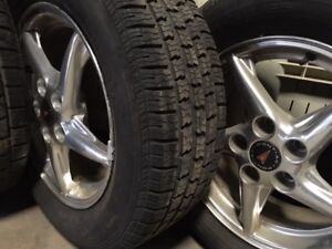 COMPLETE SET- 225/60/R16 TIRES AND RIMS