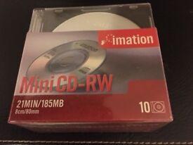 200 New Mini CD-RW and CD-R computer disks