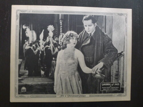 CHILDREN OF JAZZ (1923) - Original Lobby Card - Eileen Percy - Ricardo Cortez