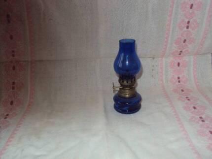 KEROSENE LAMP - MINI BLUE GLASS 10cm high Port Macquarie 2444 Port Macquarie City Preview