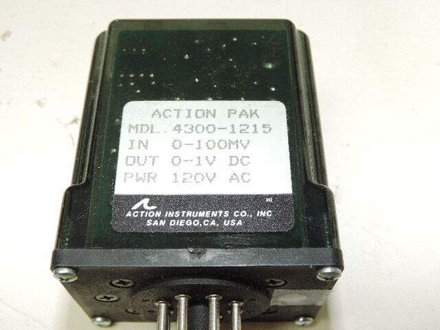 Action Pak 4300-1215 Signal Conditioner In 0-100mV, Out 0-1VDC, PWR 120VAC