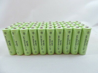 100 AA 600mAh Ni-Mh Rechargeable Battery for Solar Landscape