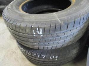 215/60R17 2 MATCHING USED BRIDGESTONE A/S TIRES