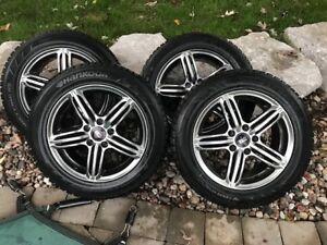 "16"" Audi/VW Winter Rims with Hankook iPike 215/55/R16 tires"