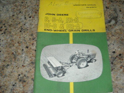 John Deere B B-a Ba Fb-b Fbb Df-b Dr-a End-wheel Grain Drills - Om-m18670