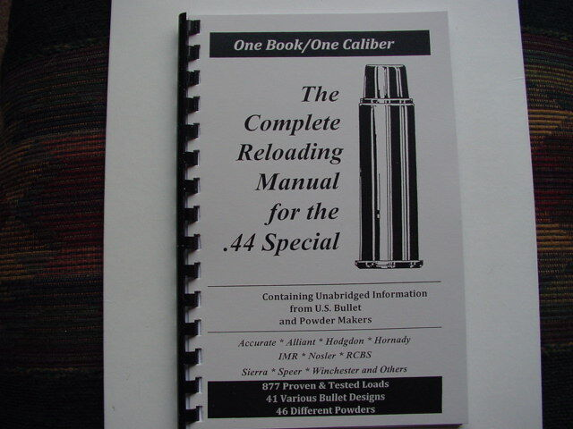 .44 Special The Complete Reloading Manual Load Books USA Latest Version