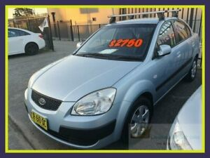 2007 Kia Rio JB MY07 EX-L Blue Manual Sedan Lansvale Liverpool Area Preview