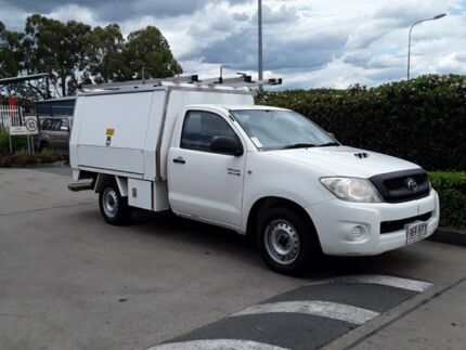 2011 Toyota Hilux KUN16R MY10 SR White 5 Speed Manual Cab Chassis
