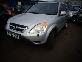 2002 Honda CR-V 2.0 Petrol 4x4 MOT'd April 2017 £1295
