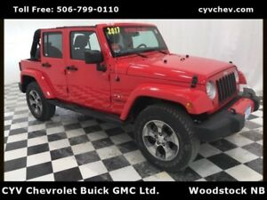 2017 Jeep Wrangler Unlimited Sahara 4 Door 4x4 - Automatic & Nav
