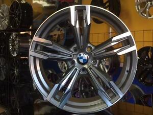 ENSEMBLE KIT MAGS ET PNEUS BMW X5 X6 20'' NEUFS STAGGERED GUNMETAL / FACE MACHINÉ