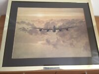 RAF Airplane Collectable WW11 Military Print - Outbound Lancaster by Gerald Coulson