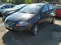 CHEVROLET KALOS 2008 5DR 1.2 MANUAL PETROL BLACK DRIVE AWAY BARGAIN