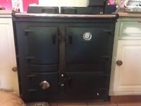 Rayburn cooker - oil converted from solid fuel, disconnected, buyer to dismantle/remove