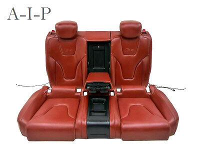 Audi S5 8T BACK SEAT SEATS REAR Rear Seat Bench Leather mustangbraun REAR SEATS
