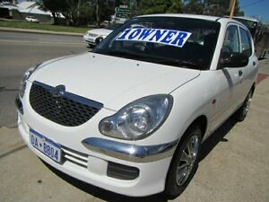 2003 Daihatsu Sirion M100 White 4 Speed Automatic Hatchback Mount Lawley Stirling Area Preview