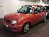 2000 NISSAN MICRA 1.0 PETROL MANUAL 3 DOOR HATCHBACK RED GOOD DRIVE CHEAP CAR MOT NOT CORSA FIESTA