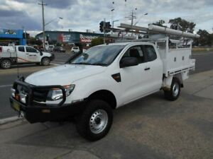 2014 Ford Ranger PX XL Super Cab White 6 Speed Manual Cab Chassis