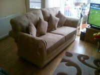 3 piece suite 3 seater and 2 chairs