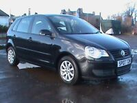 VOLKSWAGEN POLO 1.4 SE 5 DR BLACK MOT 6/11/18,CLICK ON VIDEO LINK TO SEE CAR IN GREATER DETAIL