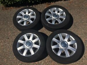 Set of 4 x 16 inch VW Alloy Rims and Tires. Great Condition!