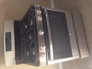 Brand new GE stainless steal gas stove