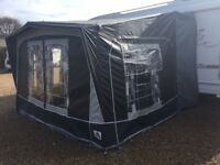 Used Dorema, Omega De Lux awning with tunnel. Excellent condition