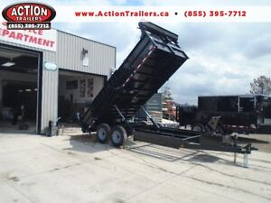 LARGEST DUMP IN THE INDUSTRY 7' X 16' BED - 7 TON IN STOCK NOW London Ontario image 1