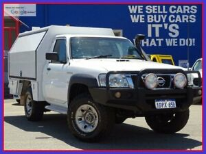 2011 Nissan Patrol GU 6 MY10 DX White 5 Speed Manual Cab Chassis