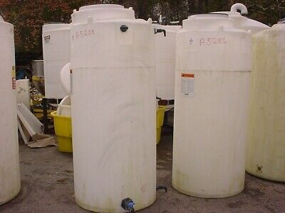 300 Gallon Poly Storage Tank Flat Bottom Closed Top 1.9 Specific Gravity Snyder