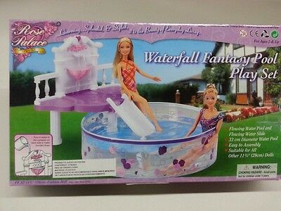 Gloria, Barbie Doll House Furniture/(2678) Water Fall Fantasy Pool Set