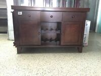 CAPPUCCINO SOLID WOOD HUTCH IN LIQUIDATION FOR ONLY 275$
