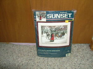 "SUNSET NEEDLEPOINT KIT ""ALAN MALEY'S WINTER IMPRESSIONS"" NEW"