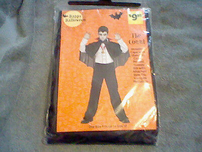 BRAND NEW BOYS THE COUNT HALLOWEEN COSTUME (ONE SIZE FITS UP TO A SIZE - Vampire Costumes Boys