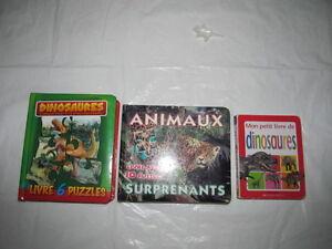 Lot de 2 livres-casse-tête + 1 livre sur les dinosaures