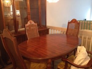 Antique solid wood dining room set