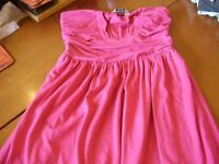 TAMMY GIRL STRAPLESS DRESS HEIGHT 152-158CM DEEP PINK NEW CONDITION