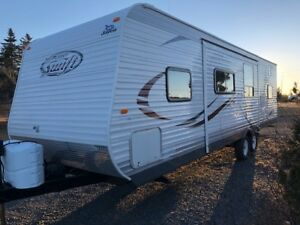 2014 Jayco Travel trailer, with large slide and bunkhouse