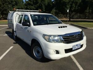 2012 Toyota Hilux KUN16R MY12 SR White 5 Speed Manual Dual Cab Pick-up Homebush West Strathfield Area Preview