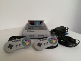 Super Nintendo snes 2X controllers &game