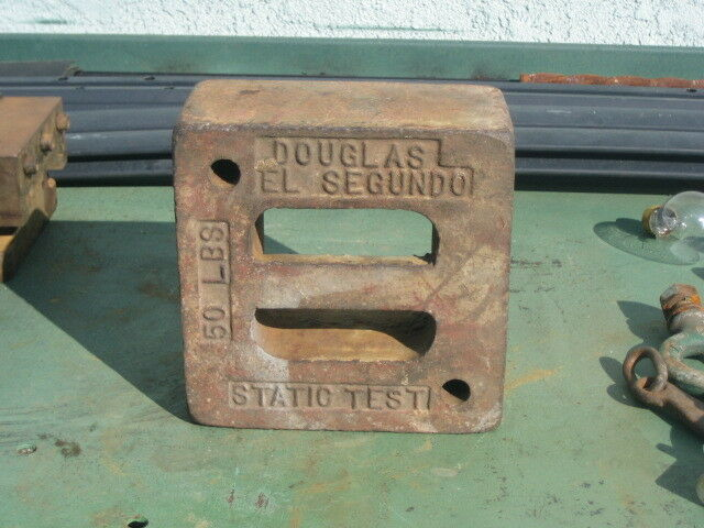 vtg douglas aircraft el segundo Calibration Weight 50lb static test